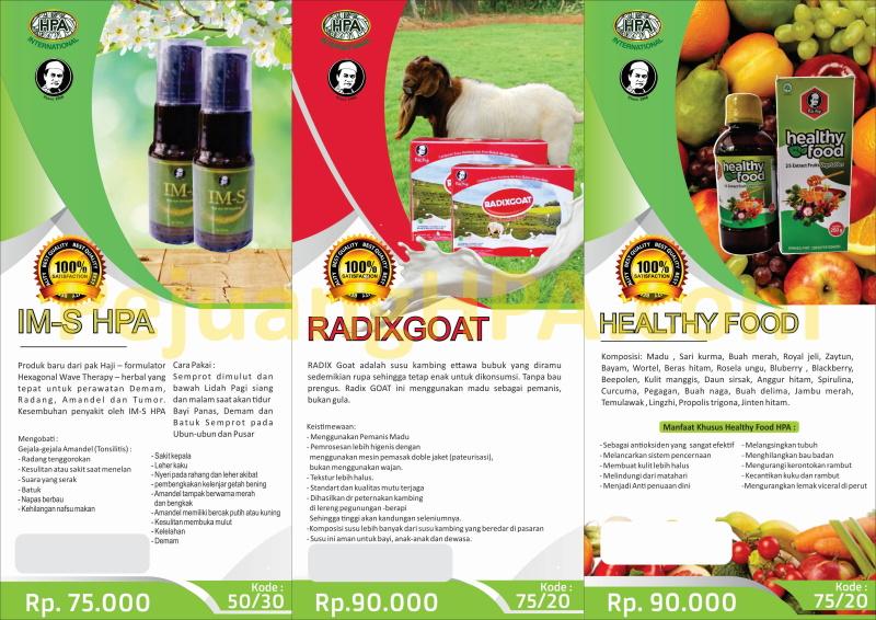 Brosur IMS - RADIX Goat - Healthy Food kecil