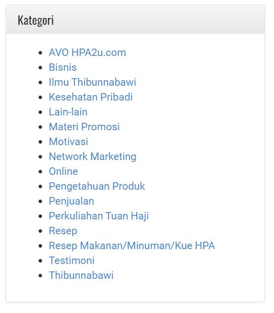Kategori Artikel di Sistem Support. Silahkan dipilih