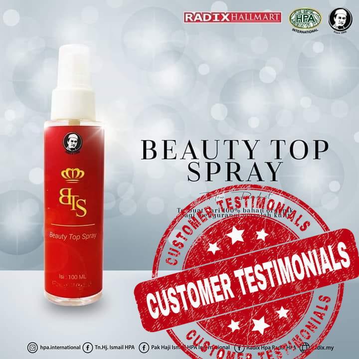 Beauty-Top-Spray Testimoni
