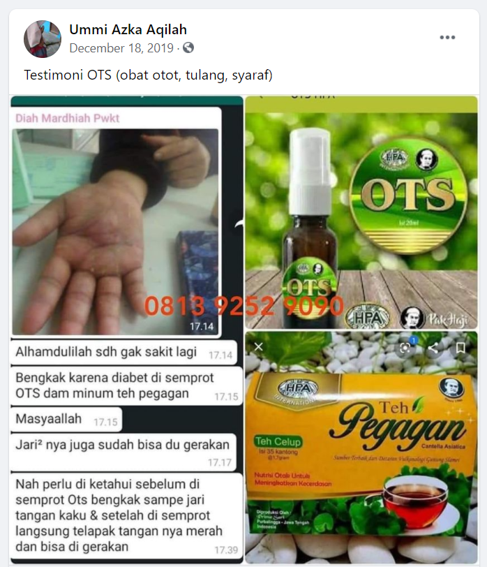 Testimoni OTS Spray