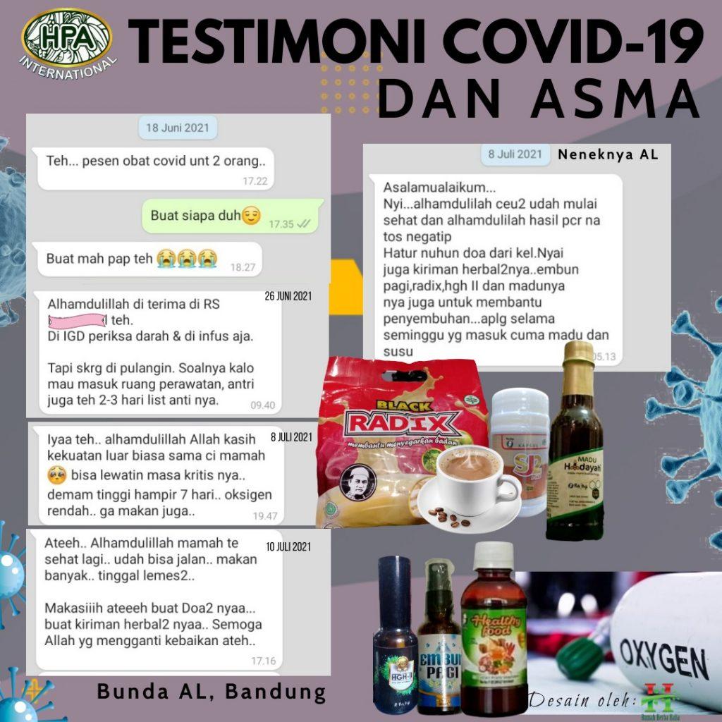 Testimoni COVID-19 dan Asma