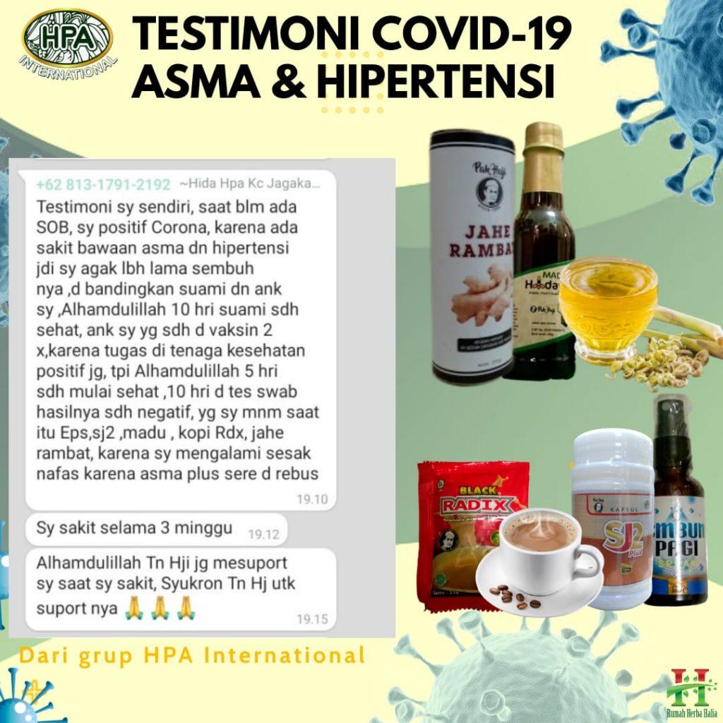 Testimoni COVID-19 dengan asma dan hipertensi