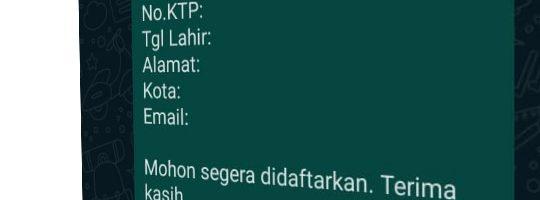 Buat Link Untuk Daftar Member baru via WhatsApp